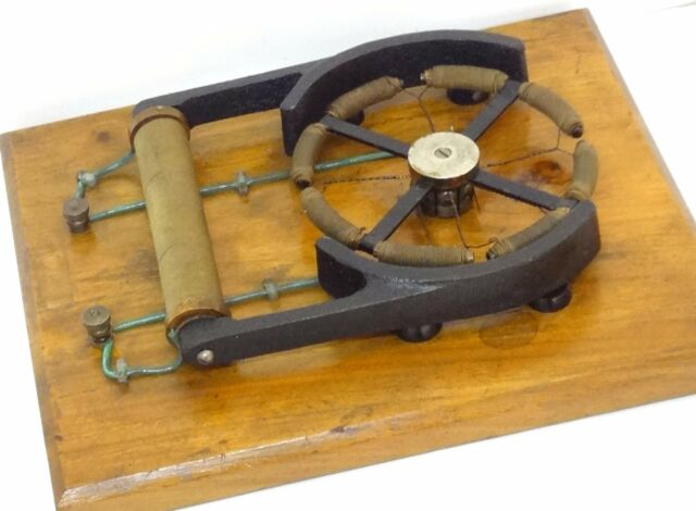 Antique 1920 Gramme Electric Motor Demo Sci Lab Demonstration Model Very Rare