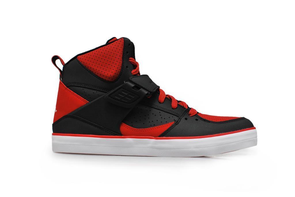 Herren Nike Jordan Flight 45 V 683366-021 Schwarz Weiß Turnhalle Rot Turnschuhe