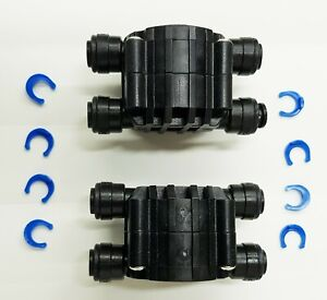 """Set Of 2 Auto Shut Off Valves Quick Connect 1/4"""" Tubing Black Color Matching In Colour"""