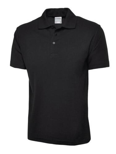 Qualitäts Polo Poloshirt S bis 6XL schwarz Super weiche Qualität