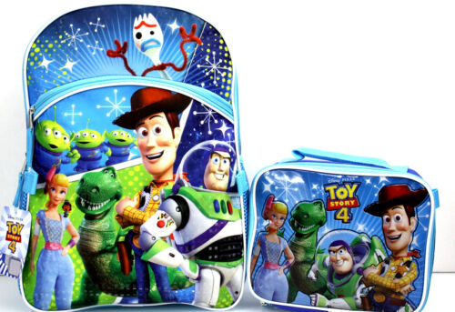 "Insulated Lunch Box Buzz Woody Rex Forky Disney TOY STORY 4 Large 16/"" Backpack"