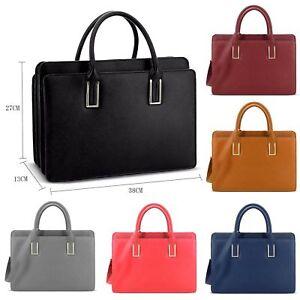 Genuine-LYDC-Faux-Leather-Briefcase-Handbag-Work-Bag-Shoulder-Bag-Laptop-GL8206