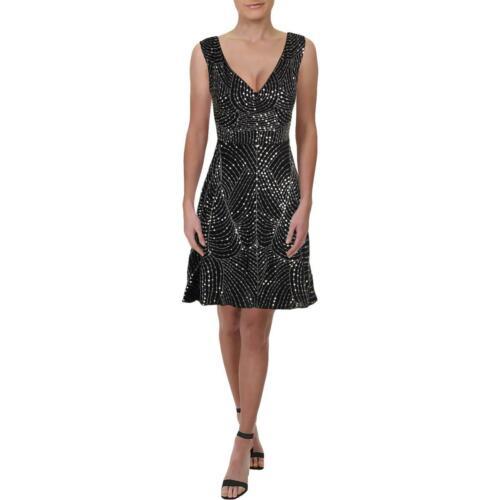 Walter Baker Womens Effy Sequined Mixed Media Midi Party Dress BHFO 9006