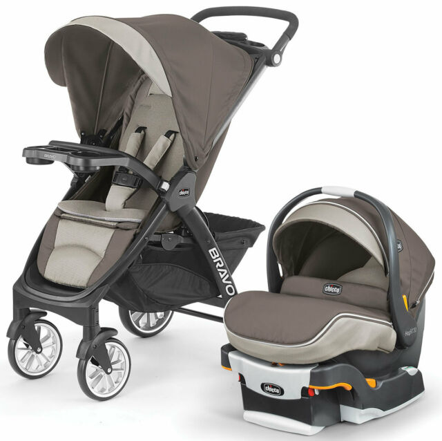 Chicco Bravo LE Trio Travel System Latte Stroller + Keyfit ...