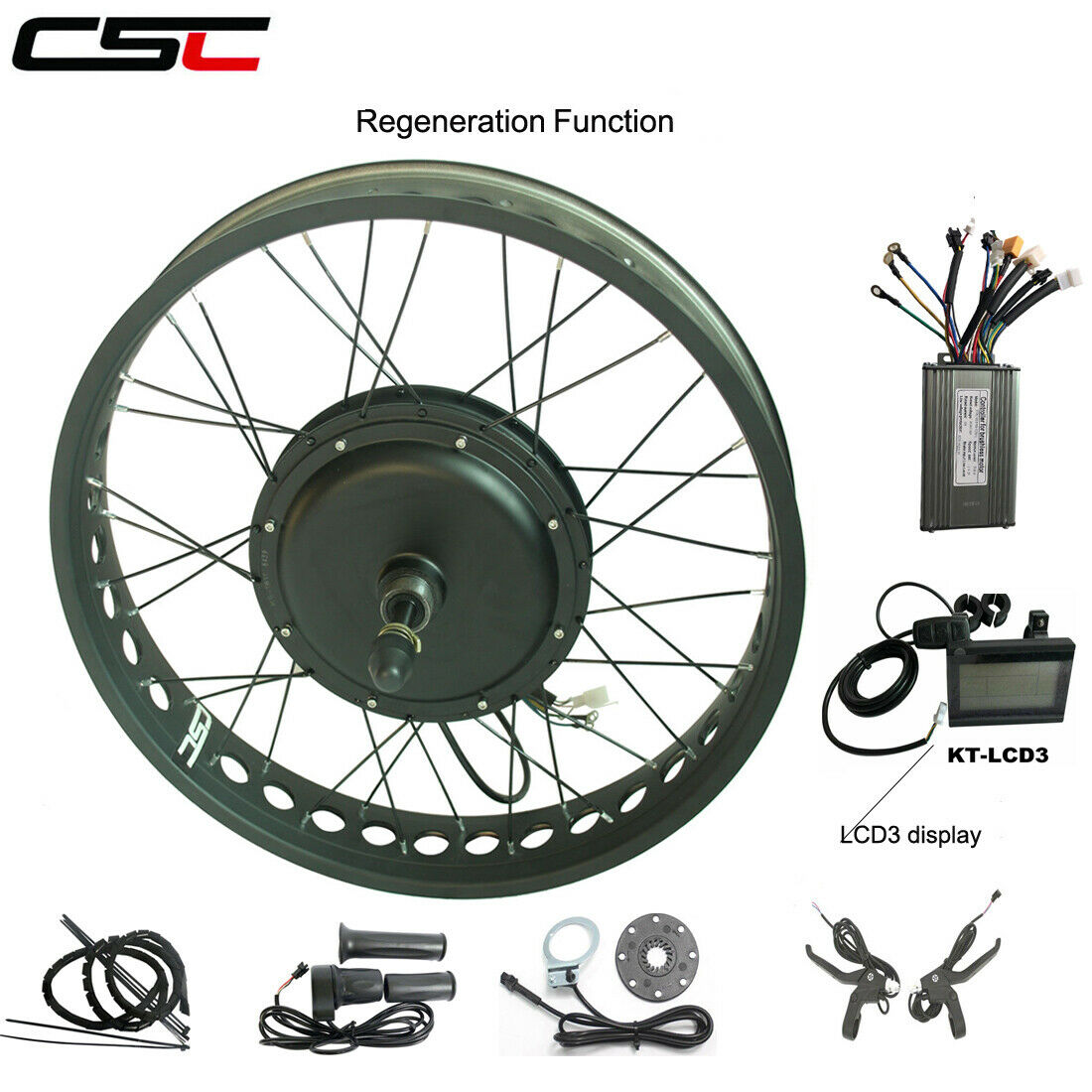 Electric bike motor conversion kit wheel 26 ebike 500W 48V LCD snow Ebike wheel