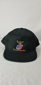 Vintage-United-Airlines-Tower-034-B-034-Commander-Hat-rope