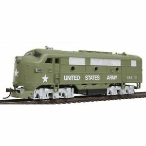 HO-Scale-UNITED-STATES-ARMY-F2-A-DIESEL-LOCOMOTIVE-A-T-S-F-New-96813-Boxed
