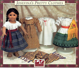 JOSEFINA-039-S-PRETTY-CLOTHES-PATTERN-PLEASANT-COMPANY-AMERICAN-GIRL-1990-NEW-SEALED