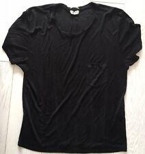 Saint LAURENT PARIS SETA NERA T-shirt con tasca Taglia L. Hedi Slimane. TEE