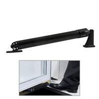 Premium Ez Glide Tap Touch Black Door Closer Pneumatic Storm Screen Doors, Black