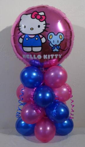 HAPPY BIRTHDAY FOIL BALLOON DISPLAY TABLE CENTREPIECE HELLO KITTY
