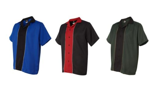 "Hilton Quest Retro Bowling Shirt Mens Size S-3XL /""Kingpin/"" Movie Star Camp Shirt"