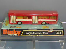 "DINKY TOYS MODEL No.283 A.E.C.SINGLE DECKER BUS ""RED ARROW"" ORANGE INTERIOR MIB"