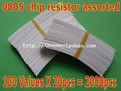 0805 1% Chip Resistor Assorted Kit 100 Values total 2000pcs SMD Assortment Kit
