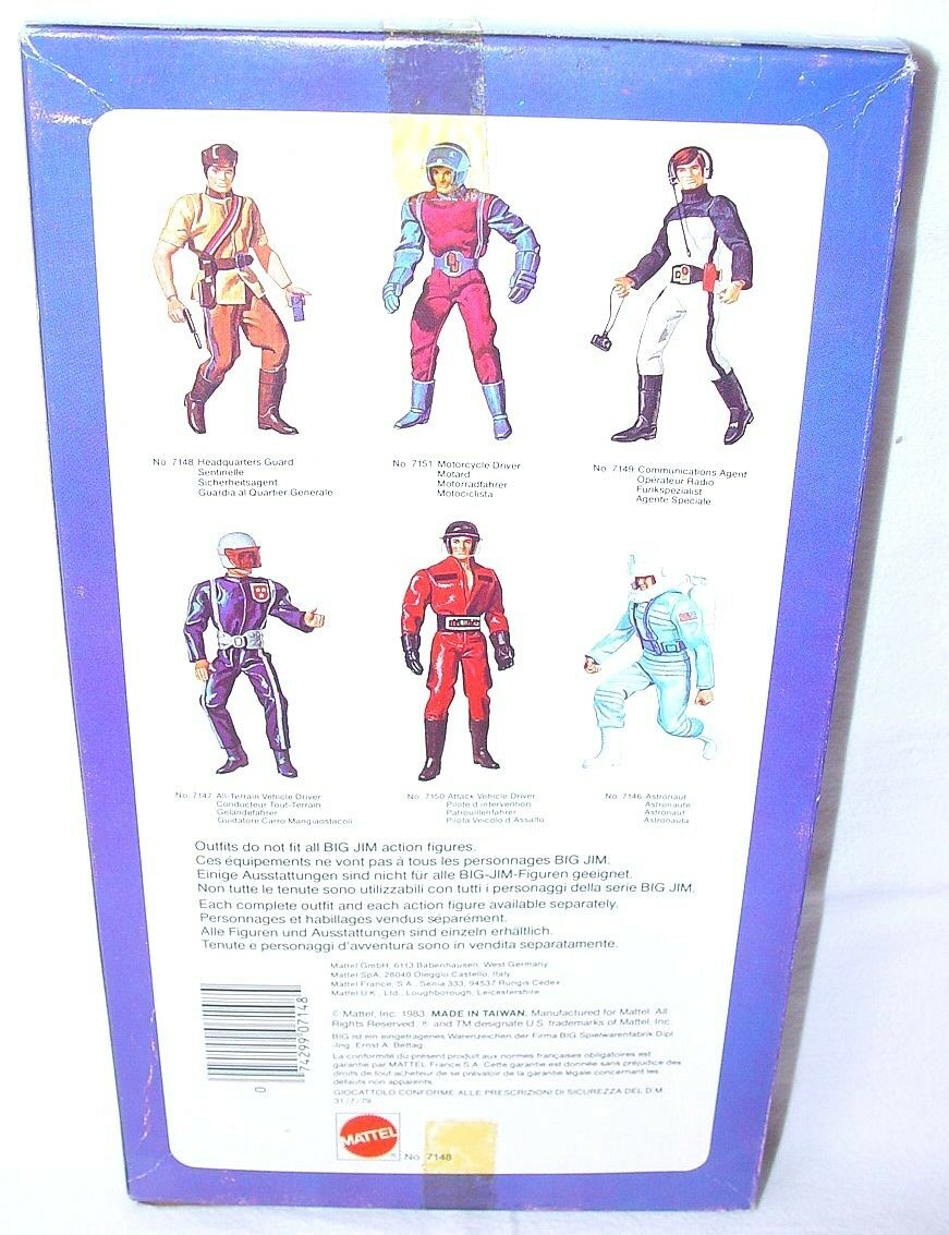 Mattel USA BIG JIM 10  HEADQUARTER GUARD GUARD GUARD SOLDIER Action Figure OUTFIT MISB`83 f721ac