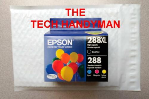 4-PACK Epson GENUINE 288XL Black /& 288 Color Ink EXPRESSION XP-446 RETAIL BOX
