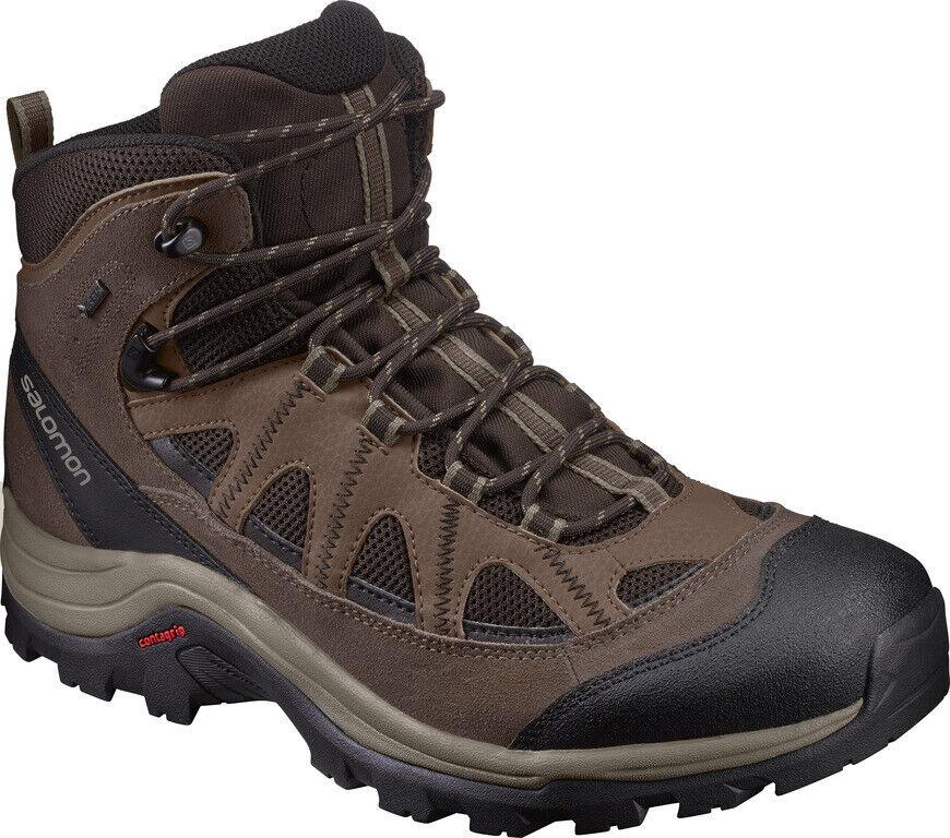 Schuhe Trekking Wandern Salomon Authentisch GTX ohne Ovp Eu 46 UK 11