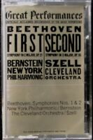 Beethoven Symphonies 1 & 2, New York Phil. Bernstein, Szell, Cleve..NEW Cassette