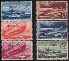 SPAIN CIVIL WAR 1938 correo submarino Completo Set genuino!