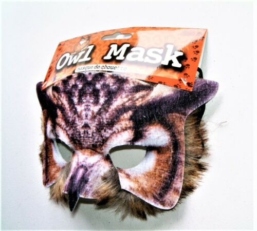 MASQUERADE book week CARNIVAL UNISEX REALISTIC FEATHER OWL PARTY MASK NEW
