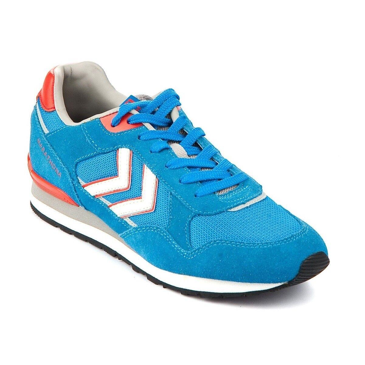 HUMMEL MARATHONA LOW running - Zapatillas casual retro running LOW unisex, color azul b2747f