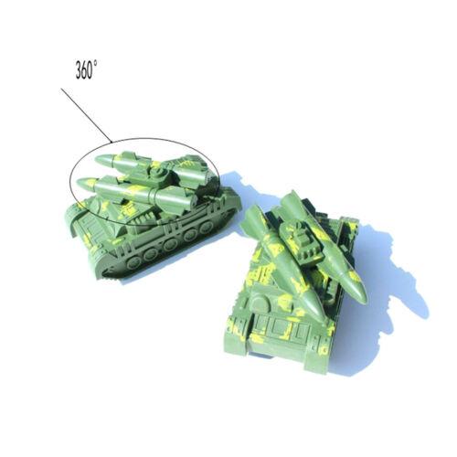 BD/_Army Green Tank Cannon Model 3D Miniature Toy Hobbies Kids Educational HFUK
