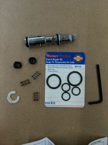 MASTER PLUMBER FAUCET REPAIR KIT STERLING STYLE 1 HANDLE KITCHEN HOT//COLD