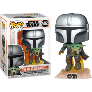 The Mandalorian with the Child & Jetpack Funko Pop Vinyl New in Mint Box + P/P