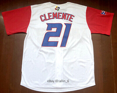 Puerto Rico #21 Roberto Clemente World Game Classic Baseball Jersey Stitched
