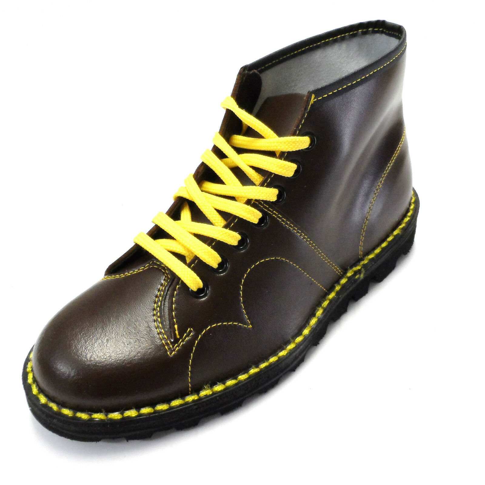 ORIGINAL 1970's Boots Style Oxblood Pelle Monkey Boots 1970's e90082