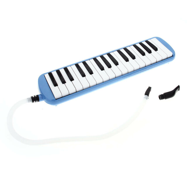 Student Instructor 32 Key Melodica Piano Style Harmonica + Oxford Bag Blue