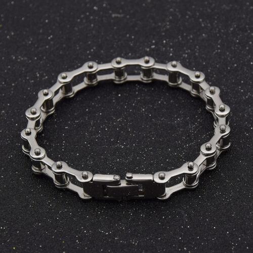 Men Motor Bike Bracelet Motorcycle Chain Bangle Stainless Steel Jewelry  Silver