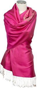 Echarpe-rose-100-soie-silk-soie-Stole-echarpe-Foulard-70-x180-echarpe-en-soie