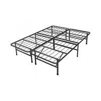 Metal Bed Frame Queen Platform Sturdy Under Storage Room-- No Box Spring Needed