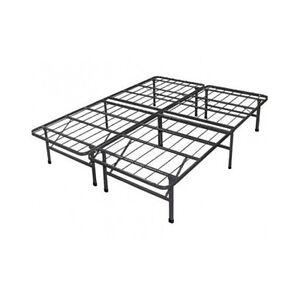 metal bed frame full size platform sturdy under storage no box spring needed ebay. Black Bedroom Furniture Sets. Home Design Ideas