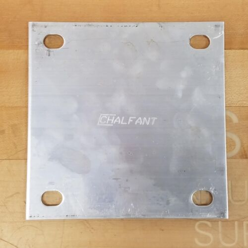 """Chalfant 6/"""" x 6/"""" Aluminum Electrical Box Cover 1//8/"""" Thick USED"""