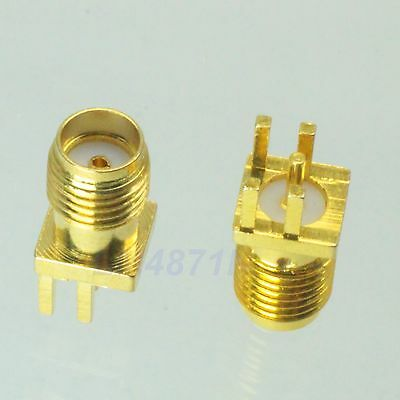 1pce Connector SMA female jack solder edge 1.6mm PCB clip mount straight 5.08mm