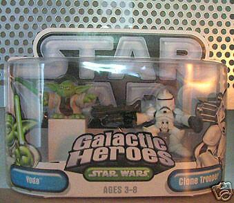 Star Wars Galactic Heroes RARE ERROR Yoda Clone Trooper