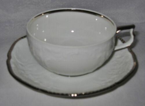 Rosenthal Sanssouci Platinum Band 608646 Cup /& Saucer Set