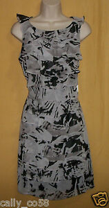 Andre-039-Oliver-women-039-s-black-gray-ruffle-side-zip-dress-sleeveless-top-10-120