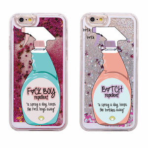 Details about Girly Glitter Bitch F Boy Repellent Spray Instagram iPhone 6 6S  Case Cover UK! 4ccc19de4