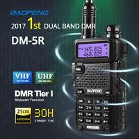 Baofeng Dm-5r Analogue&digital Dual Band V/uhf Handheld Walkie Talkie 2000mah Us on sale