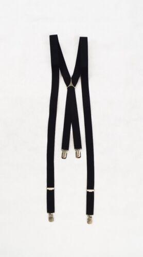 Fully Adjustable Men/'s Clip On Braces Black One Size Wedding Formal Occasion