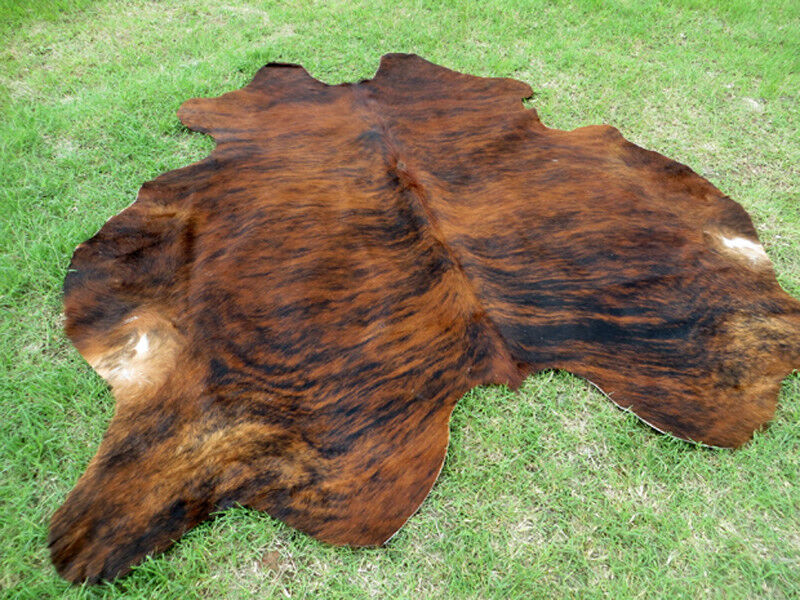 NEW LARGE BRINDLE Marronee Cowhide Rug natural Cowhides Cow Hide Skin 6X6 FEET RRS