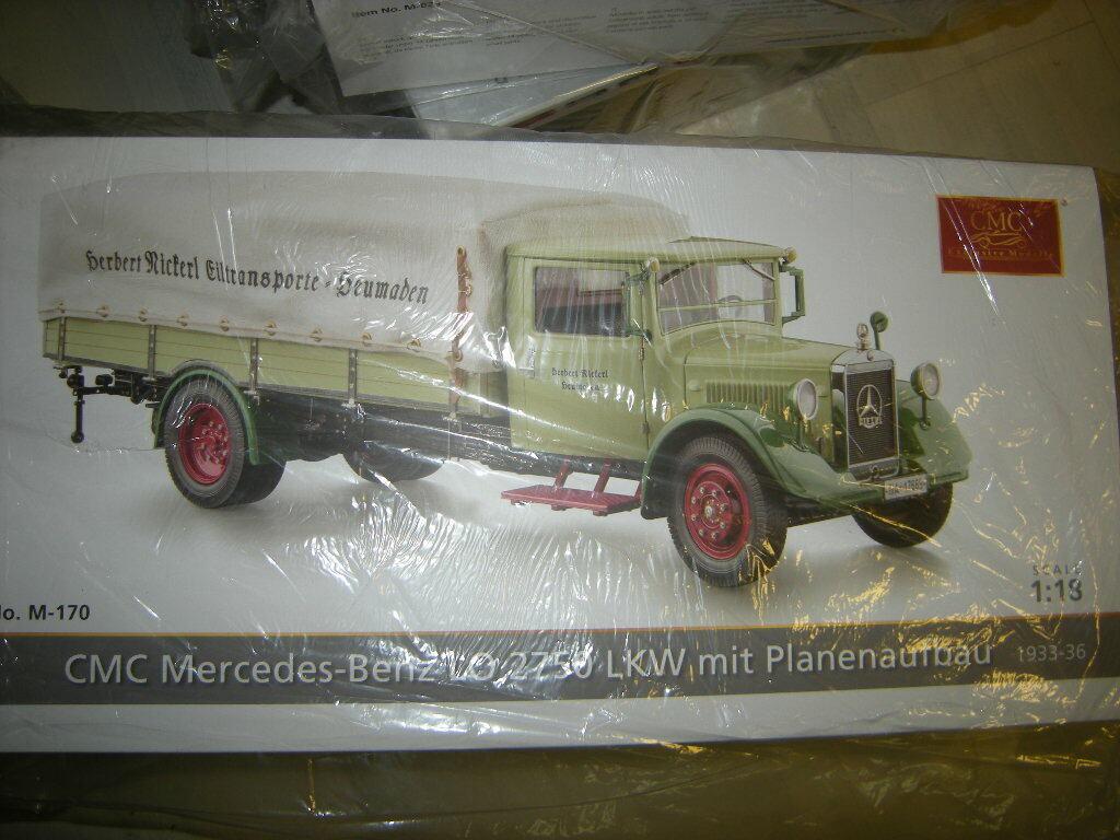 1 18 CMC Mercedes-Benz Lo 2750 Camion DE PLANIFIER construction Limited Edition en NEUF dans sa boîte
