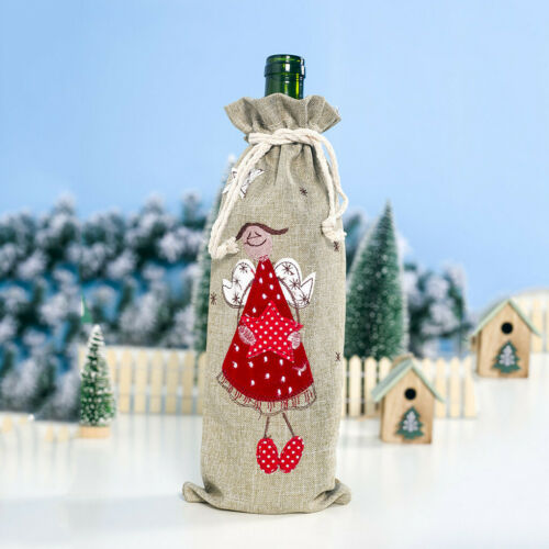 Christmas Wine Bottle Set Fabric Doll Christmas Flannel Champagne Decoration