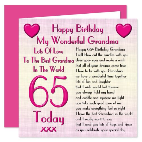 My Grandma Lots Of Love Happy Birthday Card Age 50-80 Years Verse from Child