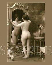 Vintage 1900s Nude Women Picture 8X10 Fine Art Print Photo Antique Old Burlesque