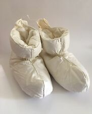 NEW Warm & Cozy Ivory Cotton Duck Feather Filled Slippers Womens Size MEDIUM