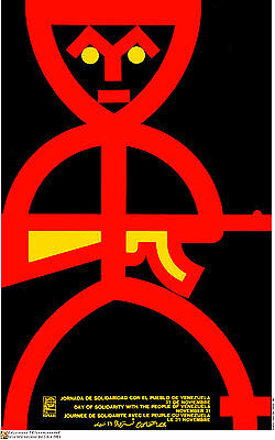 Political POSTER.Venezuela Hugo Chavez Communism.Gun.Revolution History art.19